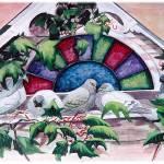 """Birds on a Window Sill"" by KarenStrumLLC"