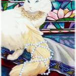 """""""Cat with a String of Pearls"""" by KarenStrumLLC"""