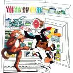 """Cats in a Refrigerator"" by KarenStrumLLC"