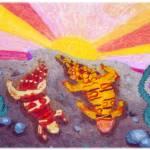 """Lizards in Love"" by KarenStrumLLC"