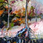 """Black Water Suwannee River Florida Oil Painting"" by GinetteCallaway"