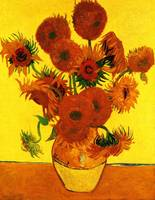 Still Life Vase with Fifteen Sunflowers 3