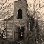 """IMG_1306 CHURCH FRONT Sepia (2)"" by geauxron"