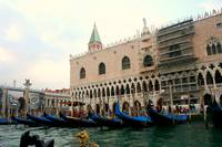 Gondolas in front of the Venetian Doge's Palace