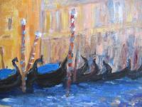 gondolas in the shade