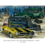 """ON A QUIET NIGHT YOU CAN HEAR THEM RUST - CHEVY"" by designsandimages"