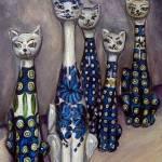 """Cats: Polish Pottery LI"" by 88heather"