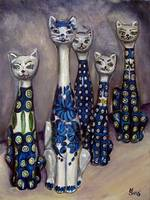 Cats: Polish Pottery LI
