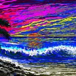 """""Ocean Sunset"""" by LarryLehman"