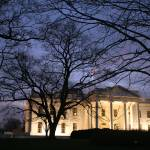 """white house with Washington mounument at night"" by dcphoto"