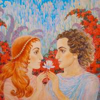 In gardens of Love Art Prints & Posters by Natalia Wilms