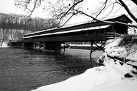 Harpersfield Bridge- Winter B&W