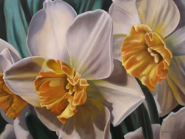 Скачать обои цветы, нарциссы, Delmus Phelps 800x600.