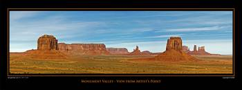 POSTER - Monument Valley-Artist Point