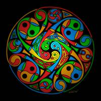 Celtic Stained Glass Spiral
