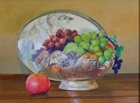 Still life with grapes, cropped