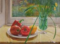 Still life with red pepper, 40cm x 30cm
