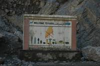 A Warm Welcome to Kabul: Roadsign
