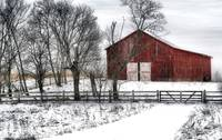 Broadside Of A Red Barn