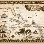 """Caribbean Nautical Chart"" by savanna"