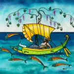 """""""Dionysus Sailing with Dolphins"""" by savanna"""
