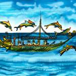 """Greek Merchantship and Dolphins"" by savanna"