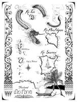 Gulf of Thailand Nautical Chart by Savanna Redman
