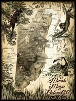 Mundo Maya Belize Map by Savanna Redman