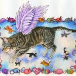 """FlyingCat"" by wendyedelson"