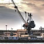 """Pearl Harbor Shipyard Crane"" by ericignacio"