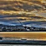 """Rolling Clouds into the Shipyard"" by ericignacio"