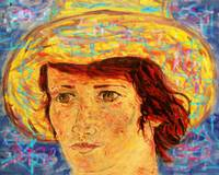 Van Gogh Style Woman With Red Hair