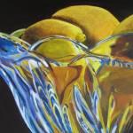 """Lemons and glass"" by ArtbyMarionHedger"