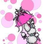 """""""Pink Polk-dot Poodle"""" by SherryHolderHunt"""