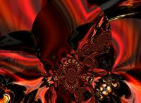 Jeweled Silk In Red
