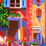 """FRANCE: Cafe in Roussillon"" by phoenixwmn"