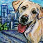 """downtowndog33"" by artbyangie"