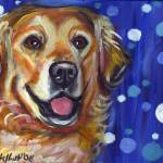 """Portrait of a Golden Retriever"" by artbyangie"