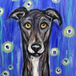 """Portrait of a Greyhound"" by artbyangie"