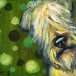 """""""Wheaten Terrier Peekaboo"""" by artbyangie"""