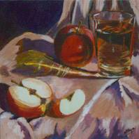 Apples and Glass #2 - Completed