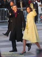 Pres & Mrs. Michelle Obama Inaugural Parade 2009