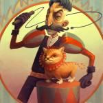 """""""Lion Tamer Circus Poster"""" by Karen"""