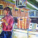 """Suzzi Reading"" by artistfaye"