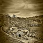 """The Farm of Celles-lez-Dinant (Sepia)"" by vandervoort"