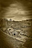 The Farm of Celles-lez-Dinant (Sepia)