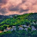 """Jamaican Homes on a Hill"" by DigiPix"
