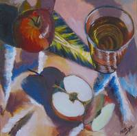 Apples and Glass #4 - Completed