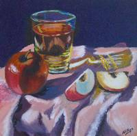 Apples and Glass #3 - Completed