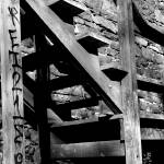 """B&W steps w/ Graffiti"" by nayr"
